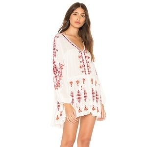NWT Free People Arianna Embroidered Tunic